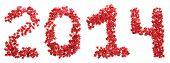 Twenty-fourteenth New Year of red stars