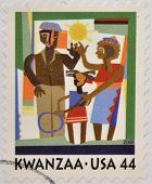 UNITED STATES - CIRCA 2009: A stamp printed in USA shows Kwanzaa celebration circa 2009