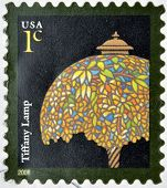 UNITED STATES OF AMERICA - CIRCA 2008: A stamp printed in USA shows Tiffany Lamp circa 2008