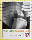stamp shows the image of Walt Disney Concert Hall (Los Angeles CA). Modern American Architecture