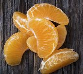 Mandarin Orange Segments In Close