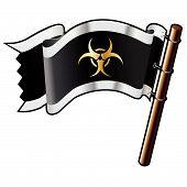 Icono de Biohazard en bandera pirata