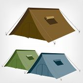 stock photo of canopy roof  - Camping tent vector - JPG