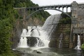 stock photo of croton  - New Croton Dam the largest hewn stone structure in the U - JPG