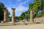 stock photo of ionic  - GREECE OLYMPIA  - JPG