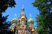 Cathedral Of The Resurrection On Spilled Blood In St. Petersburg