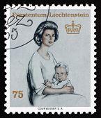 Postage Stamp Liechtenstein 1965 Princess Gina And Prince Franz