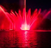 image of vinnitsa  - Musical fountain with colorful illuminations at night - JPG