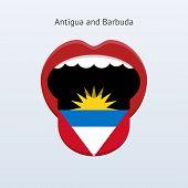 Antigua and Barbuda language. Abstract human tongue.
