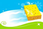 picture of bath sponge  - sponge cleaning surface - JPG