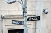 Wall Street Sign, New York