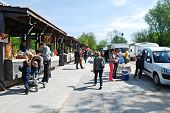 Tymo Market In Vilnius City On May