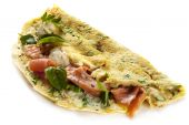 Herbed Omelette With Smoked Salmon