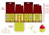 Template For Fairy Tale House Gift Box