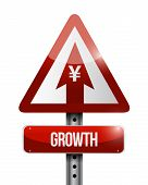 Yen Growth Sign Illustration Design