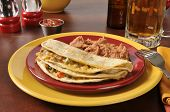 Shredded Beef And Cheese Quesadillas