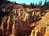 stock photo of fairyland  - Fairyland point in the early monring Bryce Canyon National Park Utah USA - JPG