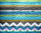 Colored Chevron Stripe Wooden