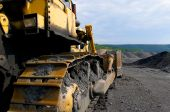Bull Dozer At Coal Mine