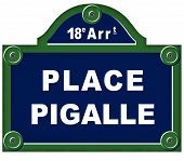 Place Pigalle Sign