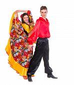 image of gypsy  - Gypsy flamenco dancer couple - JPG
