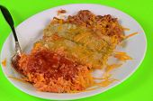 stock photo of enchiladas  - Enchiladas Verde  - JPG