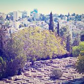 image of funeral home  - Ancient Jewish Cemetery in Jerusalem Photo Filter - JPG
