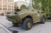 Samara, Russia - May 6, 2013: Reconnaissance-patrol Vehicle Brdm-2 At The Annual Victory Day Parade