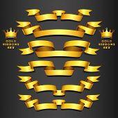 Gold ribbon set