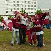 The ice hockey fans from Latvia