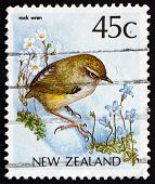 Postage Stamp New Zealand 1988 New Zealand Rock Wren, Bird