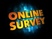 Online Survey Concept on Digital Background.
