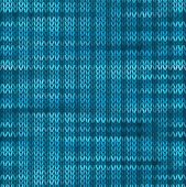 Style Seamless Knitted Melange Pattern. Blue Turquoise Black Whi