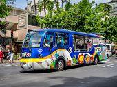 Tourist bus, Waikiki