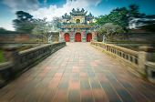 Beautiful Gate To Citadel Of Hue In Vietnam, Asia.