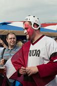 The hockey fan from Latvia