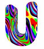 Psychedelic alphabet-U