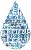 Word Cloud Illustration Related To Natural Disaster