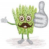 Asparagus Vegetable Mustache