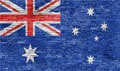 Australian Flag Over Wall