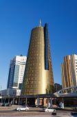 Modern Buildings On Nurzhol Boulevard In Astana. Kazakhstan