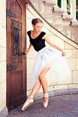 Beautiful Young Ballerina Rehearsing