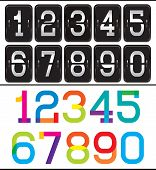 Set Of Two Sets Numbers For Advertising And Web Design