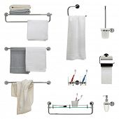 stock photo of dispenser  - Set of nine bathroom objects  - JPG