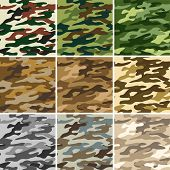 Vector illustration of camouflage