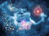 pic of human face  - Dreaming Intellect series - JPG