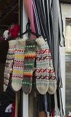 Traditional bulgarian colourful wool stocking
