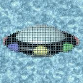 Ufo Pixelated Image Generated Texture