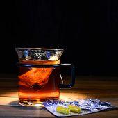 Tea With Vitamin Pills