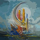 pic of crescent-shaped  - abstraction - JPG